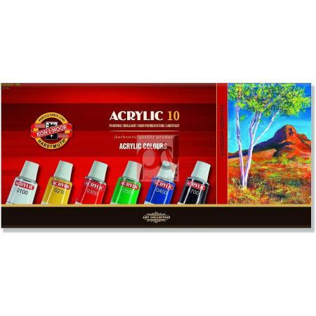 Akrylové barvy sada 162703/10 akrylové 16ml