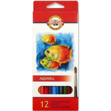 Akvarelové pastelky Koh-i-noor 12ks Ryby 3716