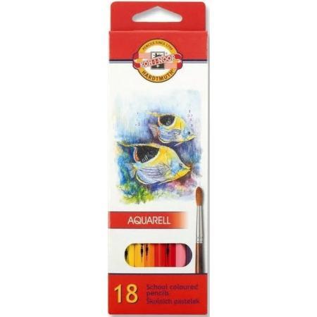 Akvarelové pastelky Koh-i-noor 18ks Ryby 3717