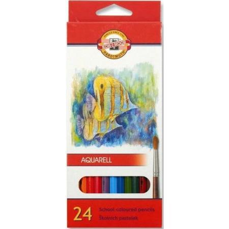 Akvarelové pastelky Koh-i-noor 24ks Ryby 3718