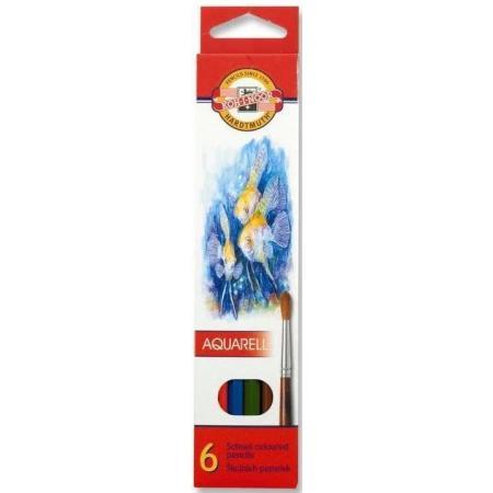 Akvarelové pastelky Koh-i-noor 6ks Ryby 3715