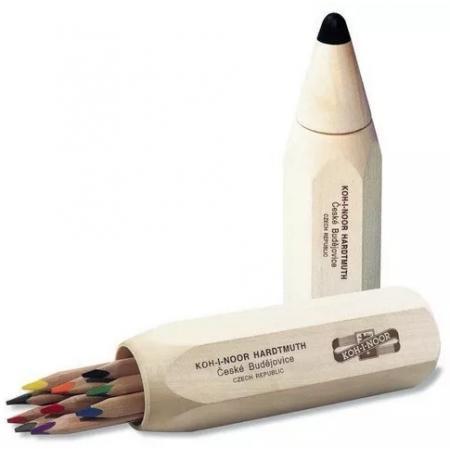 Pastelky Koh-i-noor Triocolor 7004 10ks v dárkové dóze