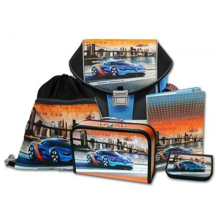 Školní aktovkový set EMIPO ERGO ONE Top Car 5-dílný